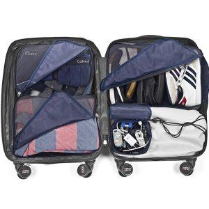 סט 5 תיקי ארגון וסידור למזוודה כחול SWISS