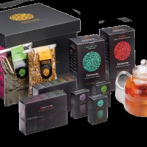 """""""תה"""" – מארז מתנה לראש השנה הכולל קנקן תה מיוחד ומגוון סוגי תה מובחרים"""