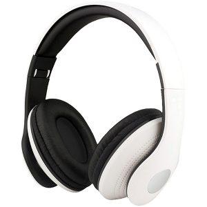 """""""סופר סאונד"""" – אוזניות מתקפלות לבנות עם דיבורית"""