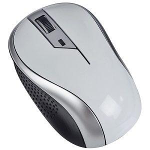 עכבר אלחוטי אופטי 2.4G לבן כסוף