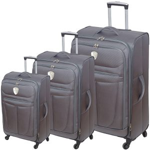 """סט שלוש מזוודות """"טרמינל"""" (אפור)"""