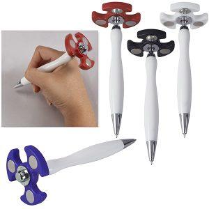 עט פלסטיק עם ספינר