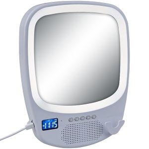 רמקול Bluetooth כולל דיבורית מראה ותאורת לד היקפית