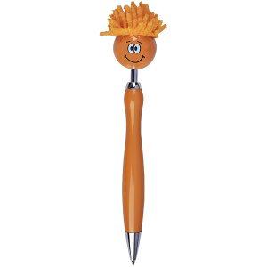 """""""הראש המסתובב"""" – עט פלסטיק קומי עם שיער לניקוי מסכי מגע"""