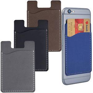 פאוצ' נצמד לטלפון סלולרי לכרטיסי אשראי דמוי עור