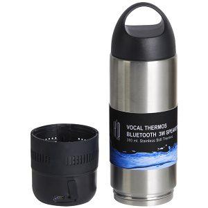 רמקול Bluetooth 3W משולב בטרמוס נירוסטה מבית H2O