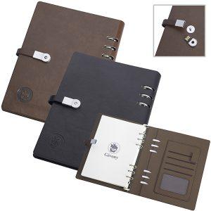 מחברת עסקים יוקרתית כריכה קשה A5 ודיסק און קי 8GB בסוגר מבית המותג GIVONY