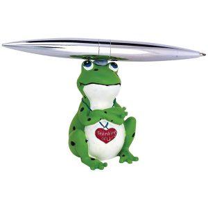 מעמד עט מסתובב צפרדע