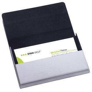 """""""ויזיט"""" – קופסה לכרטיסי ביקור דמוי עור / מתכת"""
