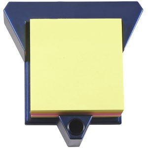 מעמד שולחני משולש לניירות ממו כולל בלוק ממו צבעוני ומעמד לעט