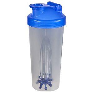 בקבוק שייקר בריאותי שקוף מט עם מכסה