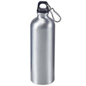 בקבוק ספורט עשוי אלומיניום עם מכסה אחיזה ותופסן