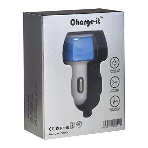 שקע USB כפול לרכב לטעינת טאבלטים ואייפדים 3.1A/2.1A מבית Charge-It