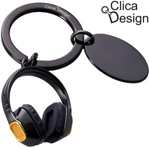 מחזיק מפתחות מתכת אזניות מבית Clica Design