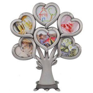 עץ משפחה 6 מסגרות לתמונות לבבות