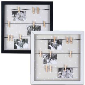 מסגרת עם 9 אטבים לתמונות