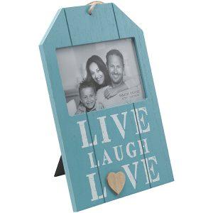 מסגרת תמונה לתלייה מעץ עם כיתוב LIVE