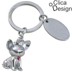 מחזיק מפתחות מתכת כלבלב מבית Clica Design