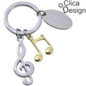 מחזיק מפתחות מתכת מוסיקה-מפתח סול מבית Clica Design