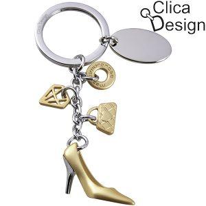 מחזיק מפתחות מתכת Fashion אופנה מבית Clica Design