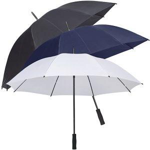 מטריה עם ידית ישרה וזרועות סיליקון גמישות