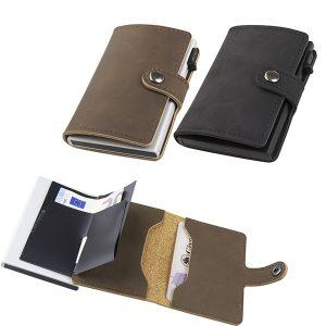 ארנק בטיחות מדמוי עור NFC+ RFID שולף כרטיסי אשראי מבית המותג גבעוני